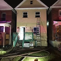 Early morning blaze at Hamilton home sends three people to hospital