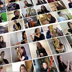 CAUGHT ON VIDEO: McMaster, Hamilton high school music students perform together at home