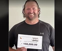 Burlington man wins $150,000 in The Bigger Spin instant game