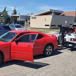 Male arrested after allegedly driving impaired to police station in Milton