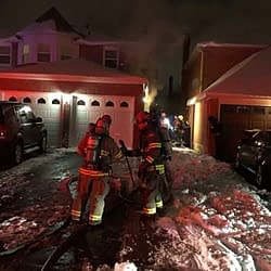Brampton firefighters rescue mother and son from basement blaze